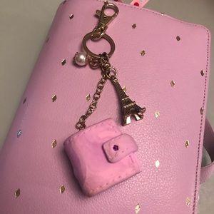 Handmade planner charm bag charm keychain